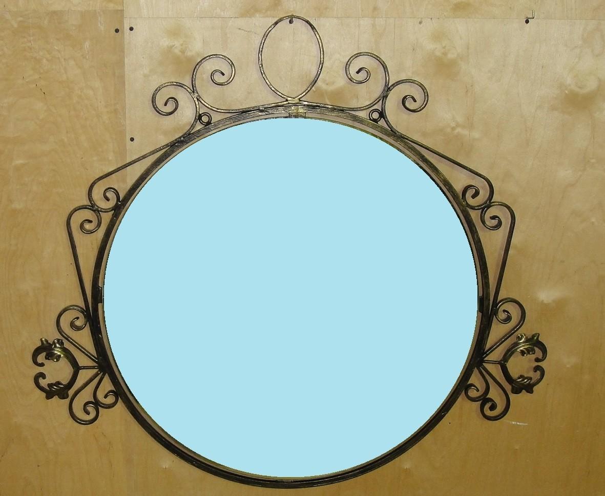 кованое зеркало «Локоны»