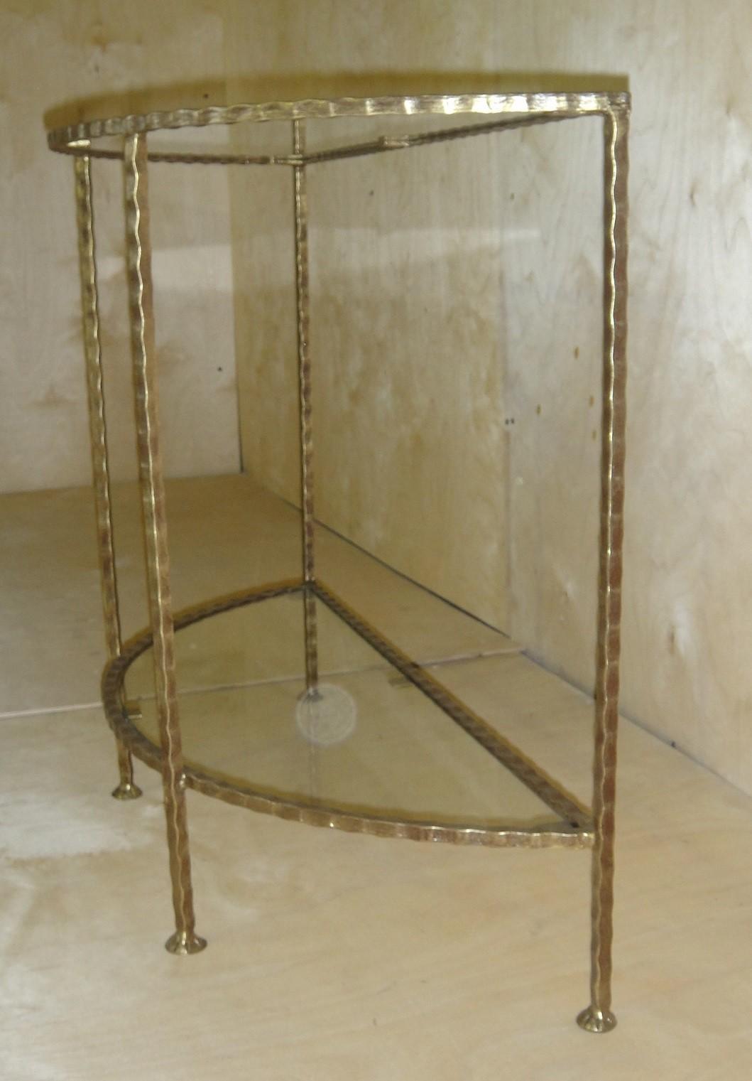 кованый стол консольный